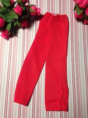 Mattel Vintage Barbie Fashion Doll Outfit Best Buy Htf Red Tricot Pants ~