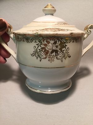 Anitque Sugar Bowl By Goldena China Made In Japan