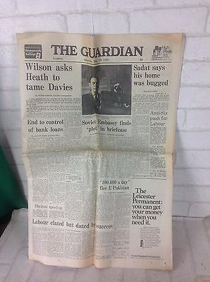 Vintage May 15th 1971 The Guardian Newspaper Advert Decoupage Gift