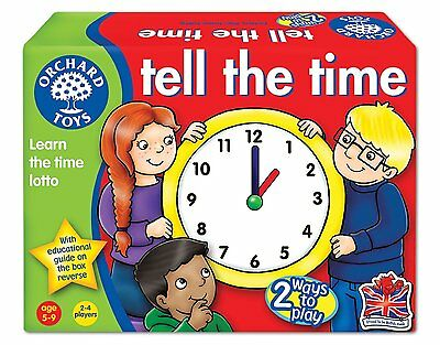 Orchard Toys Tell The Time Toddler Kids Educational Game Gift Toy
