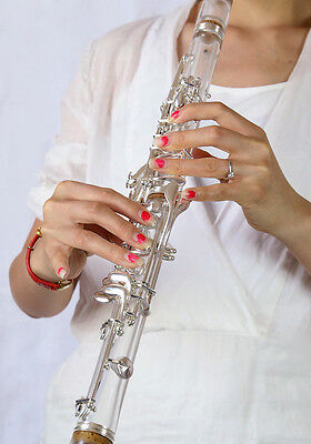 Clarinet Musical instrument acrylic  transparent body silver plated Bb clarinet