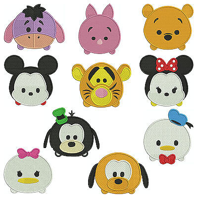 TSUM TSUM CUTIES * Machine Embroidery Patterns * 10 designs in 3 sizes
