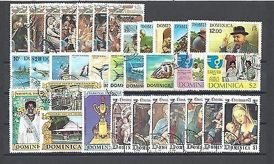 DOMINICA 1974-75 Commemorative Sets Cat £8.05