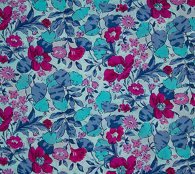 vintage Liberty tana cotton lawn Poppy & Honesty floral print fabric piece 2