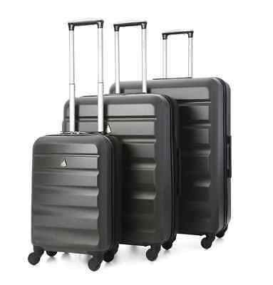 JANUARY SALE Aerolite Hard Shell Suitcase 3-Piece Luggage Set, Cabin/M/L