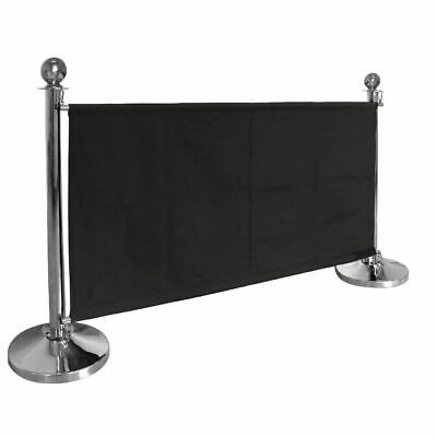 Bolero Black Polyester Canvas Barrier Crowd Control  Machine Washable Clubs Bars