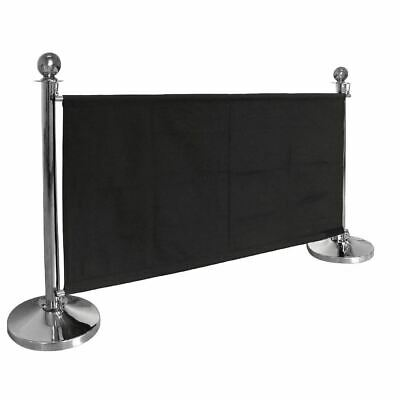 Bolero Canvas Barrier Black Made of Polyester 700(H) x 1430(W) x 20(D)mm