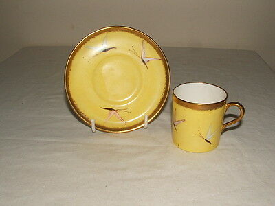 Aynsley Art Nouveau Handpainted Butterflies  Coffee Cup & Saucer Truly Stunning