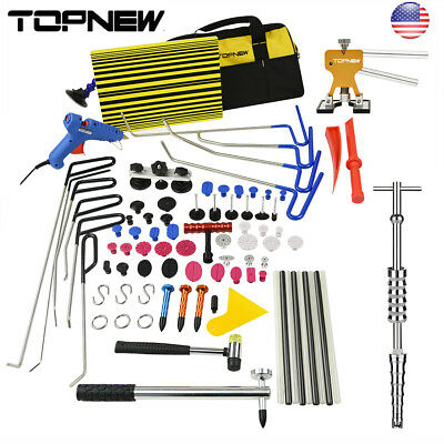 Paintless Dent Repair Puller Lifter+Removal Hail Rods PDR Auto Hammer Tools Kits
