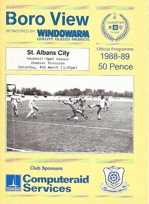 Farnborough Town V St. Albans City   88/89.