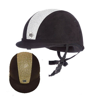 Charles Owen YR8 Silver/Gold Sparkly Centre Riding Hat – PAS015