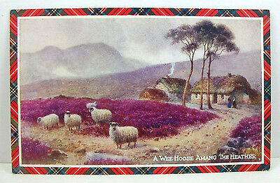 POSTCARD: A Wee Hoose Amang the Heather; Valentine's Scottish Studies; Unposted