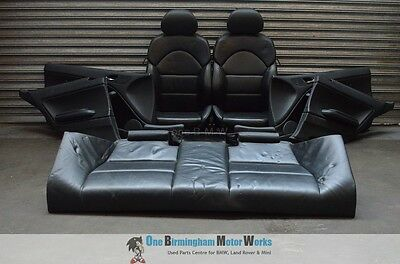 Bmw E46 M3 Coupe Heated Front And Rear Black Leather Seats With Door Cards