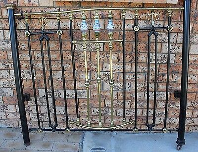 Antique Cast Iron Bow Bed End