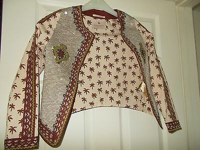 Girl's SCOTCH R'BELLE Scotch & Soda Metallic Thread and Beaded  Jacket Age 10