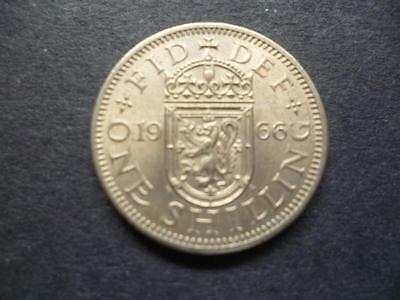 1966 Scottish Shilling Coin In Good Used Condition Copper Nickel Coin Shown Sent