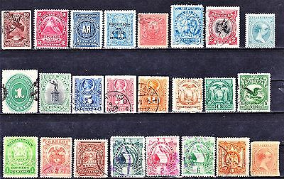 SOUTH & CENTRAL AMERICA 1870-1940 Collection M/U 3 Scans.