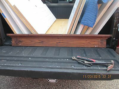 Vintage Antique Door Window Header Pediment Chestnut