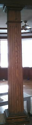Pair Of Square Wood Columns Natural Chestnut?