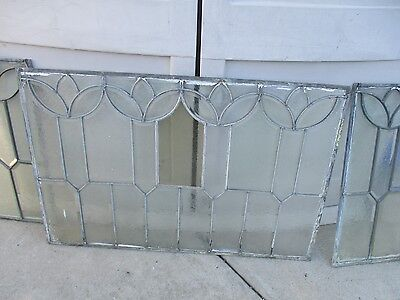 TRANSOM AND TOP SIDE LITE LEADED STAINED GLASS  WINDOW  3 piece set