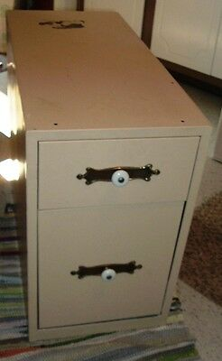 Vintage 2 Drawer Metal Cabinet - Local Pick Up Only