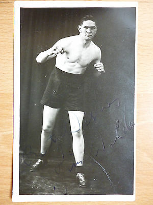 SIGNED BOXING POSTCARD 1920's BEST WISHES JIM WILDE -  JIMMY WILDE