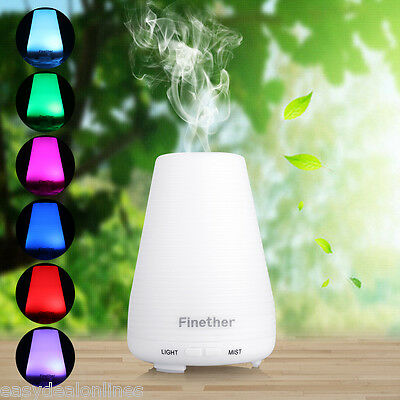 100ML 7 Colors LED Aroma Diffuser Ultrasonic Humidifier Air Mist Aromatherapy AU