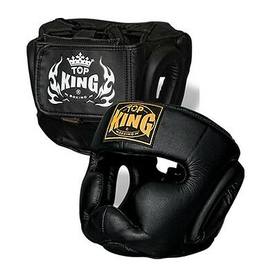 Top King Head Guard Full Face Muay Thai Boxing Mma Sparring Aus Stock