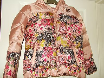Girl's SCOTCH R'BELLE Scotch & Soda Pink Down-Filled Jacket with Hood Age 10