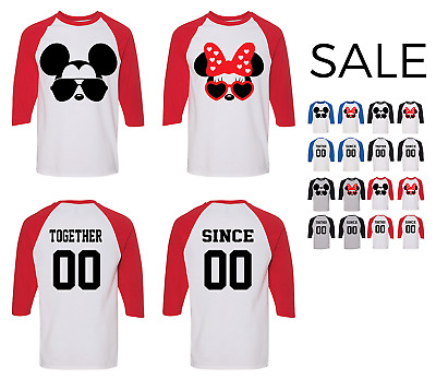 Mickey and Minnie Inspired couple matching funny cute T-Shirts