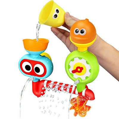 Xmas Bath Toys Water Faucet Taps Spout Spray Shower Water Play For Children Baby