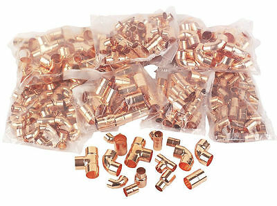 Pack Of 300 Copper End Feed Mixed Fittings FOR PLUMBING/DIY/COPPER PIPE 15/22mm