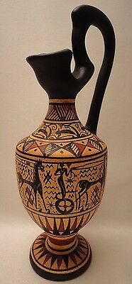 Ancient Greek Pottery Art Rare 900 BC Geometric Painted Vase Oenochoe