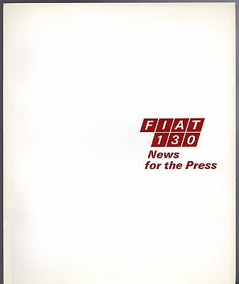 Fiat 130 Saloon Press Information 1969 Brochure In English
