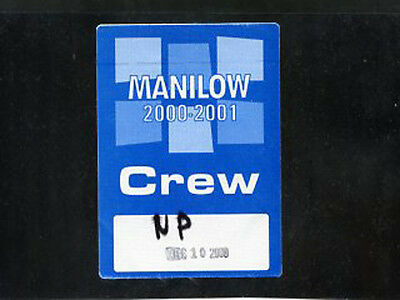Barry Manilow 2000 Live -satin backstage pass crew December 10 - color blue