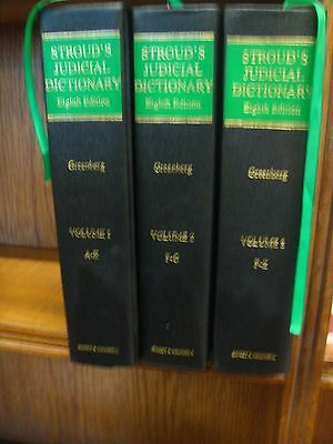 Stroud's Judicial Dictionary of Words and Phrases Daniel Greenberg (3 vols)
