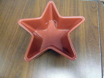 Longaberger Woven Tradition Red Star Shaped Bowl