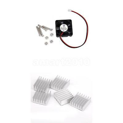 5PCS Aluminium Heatsink + Cooling Fan for Raspberry Pi Arduino Circuit Board