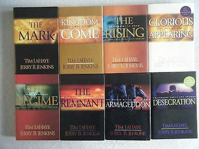 Lot of 8 Left Behind Hardcover Book Series