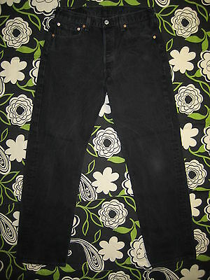 7386 VINTAGE levi's 501-0660 black jeans 34x32 Made in U.S.A.