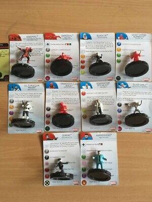 Heroclix Deadpool Complete Gravity Feed 201-210 In Hand