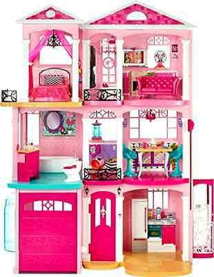 Dollhouse with Furniture Barbie Dream House Playset Three Floors and Seven Rooms
