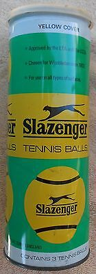 Vintage SLAZENGER Tennis Ball Can/Empty/ Made In England