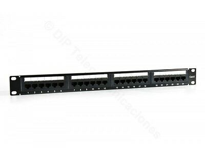"Patch Panel 19"" Cat.6 24 Puertos Utp"