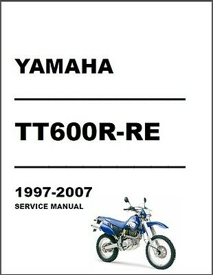 1997-2007 Yamaha TT600R / TT600RE Service Manual on a CD