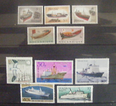 F015 - 10 timbres (ships)