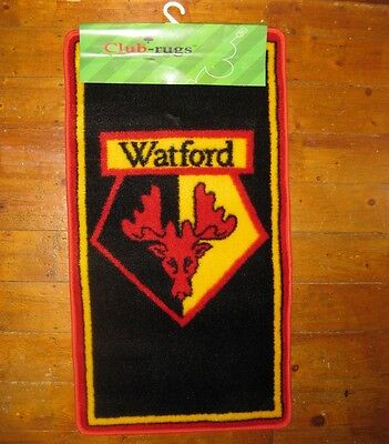 Watford FC Rug (BNWT) - Great Xmas Gift for Hornets Fan - free delivery to WD