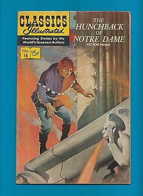 Classics Illustrated Comic Book 1944  Hunchback of Notre Dame  # 18.  #710