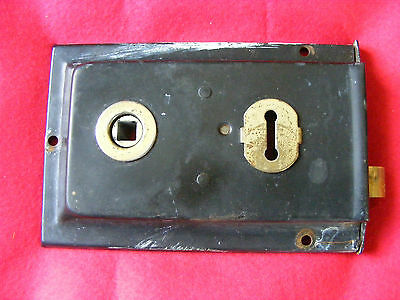 1 Inner Door Latch Lock Antique Vintage 1930's #1 Key Lock.