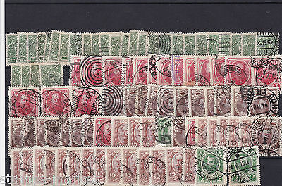Earrly Russia Stamps On Large Stock Card, Good Postmarks, Ref 1299